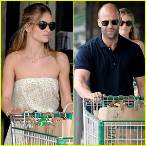 Rosie Huntington-Whiteley & Jason Statham: Grocery Shopping!