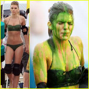 AnnaLynne McCord: Slimed Bikini Babe