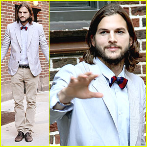 Ashton Kutcher Visits 'Letterman'