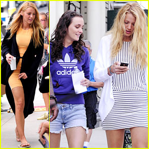 Blake Lively & Leighton Meester: Gossip Gals in NYC!
