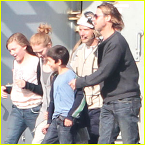 Brad Pitt: 'World War Z' in Falmouth