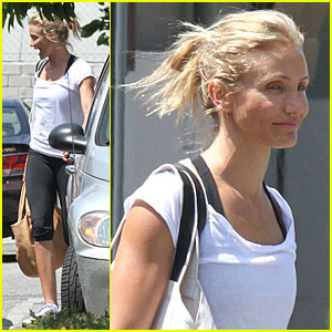 Cameron Diaz Hits the Gym