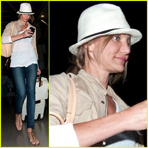 Cameron Diaz Walks and Talks at LAX