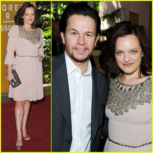 Mark Wahlberg & Elisabeth Moss: HFPA Luncheon!