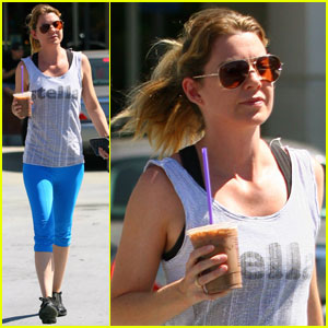 Ellen Pompeo Cools Down with Coffee Bean
