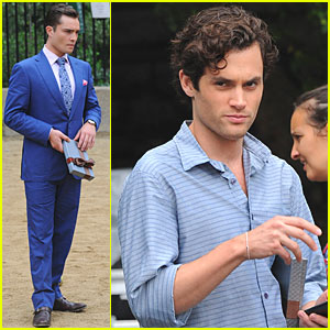 Ed Westwick & Penn Badgley: 'Gossip Girl' at the Dog Park