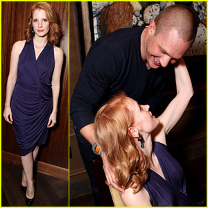 Jessica Chastain: 'Warrior' Party with Tom Hardy!