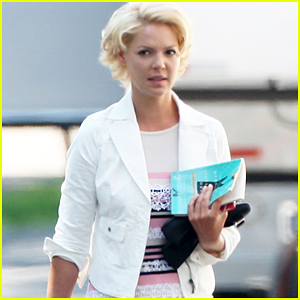 Katherine Heigl: On Set of 'The Wedding'