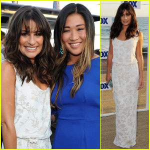 Lea Michele: Fox All-Star Party with Jenna Ushkowitz!