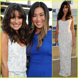 Lea Michele: Fox All-Star Party with Jenna Ushkowitz!