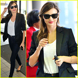 Miranda Kerr Lands in Los Angeles