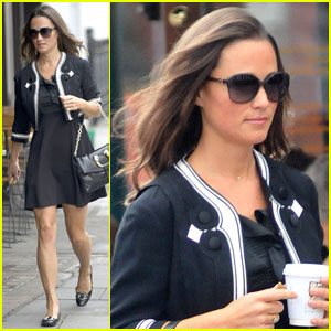 Pippa Middleton Gets Her Caffeine Fix