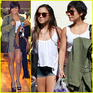Vanessa Hudgens: Urban Outfitters with Sister Stella!