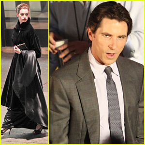 Anne Hathaway & Christian Bale: Late Night 'Dark Knight' Shoot!