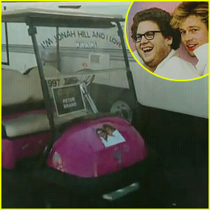 Brad Pitt Shrink Wraps Jonah Hill's Golf Cart