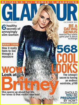 Britney Spears Covers 'Glamour UK' October 2011