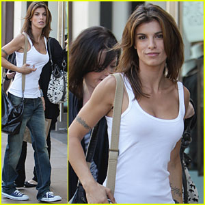 Elisabetta Canalis: 'Extra' Segment at The Grove!