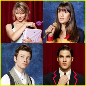 Dianna Agron & Lea Michele: 'Glee' Class Photos!