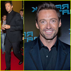 Hugh Jackman Premieres 'Real Steel' in Moscow