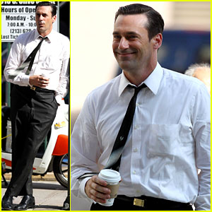 Jon Hamm: Don Draper Drinks Starbucks!