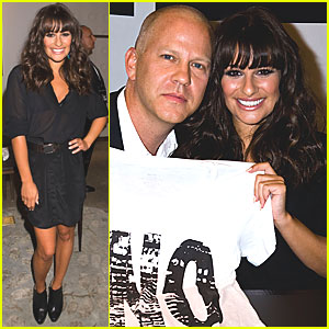 Lea Michele: Fashion's Night Out Signing at Saks!