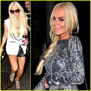 Lindsay Lohan Checks Out Fashion Week