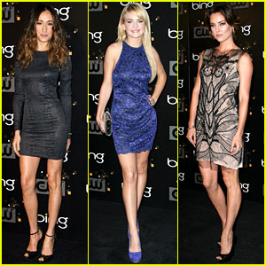 Maggie Q & Britt Robertson: CW Party with Jessica Stroup!