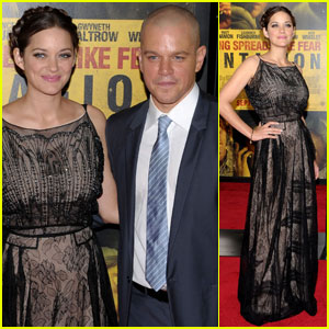 Marion Cotillard: 'Contagion' Premiere with Matt Damon!
