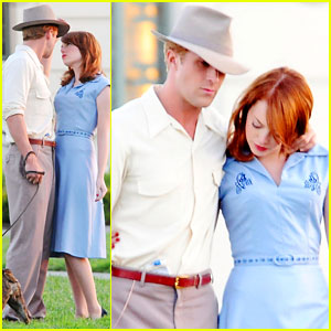 Ryan Gosling &#038; Emma Stone: 'Gangster' Filming!