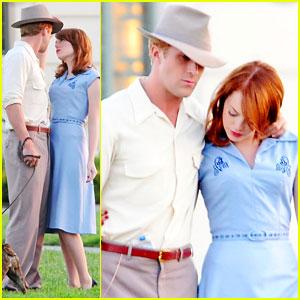 Ryan Gosling & Emma Stone: 'Gangster' Filming!