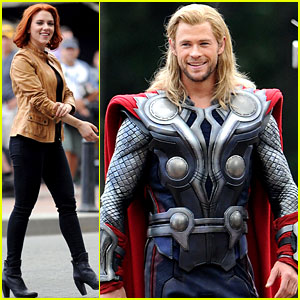 Scarlett Johansson & Chris Hemsworth: 'Avengers' in NYC!