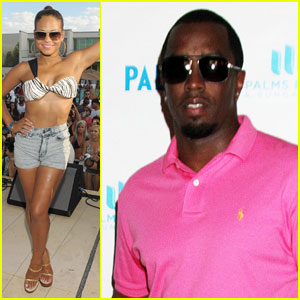 Sean Combs & Christina Milian: Poolside Party in Vegas!