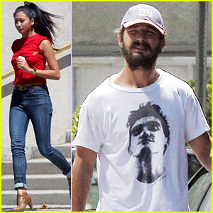 Shia LaBeouf & Karolyn Pho Check Out Some Graffiti