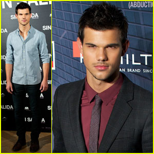 Taylor Lautner: 'Abduction' Premiere & Photo Call in Spain!