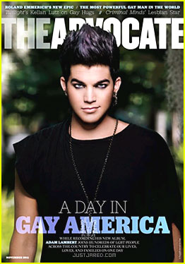 Adam Lambert Covers 'The Advocate' November 2011