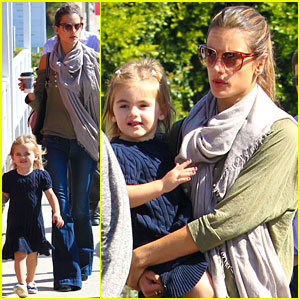Alessandra Ambrosio Grabs Food with the Family