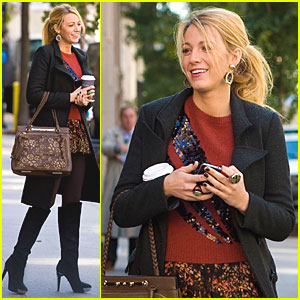 Blake Lively: Back to Work on 'Gossip Girl'!
