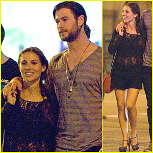 Chris Hemsworth & Elsa Pataky Stroll in Spain