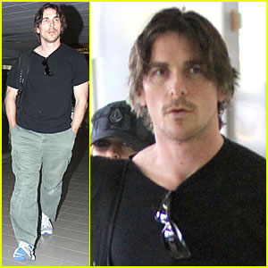 Christian Bale: LAX Airport with Sibi!