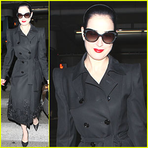 Dita Von Teese: LAX Before Singapore Show!