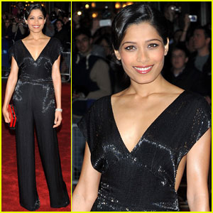 Freida Pinto Premieres 'Trishna' in London