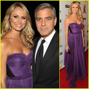 George Clooney: Hollywood Film Awards With Stacy Keibler!