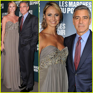 George Clooney &#038; Stacy Keibler: Paris Premiere Pair!