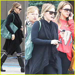 Hilary Duff: Brunch with Mom & Haylie!