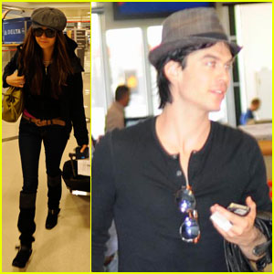 Ian Somerhalder & Nina Dobrev Head to NYC