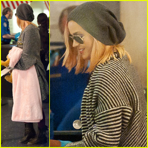 Katy Perry Debuts Blonde Hair at LAX!