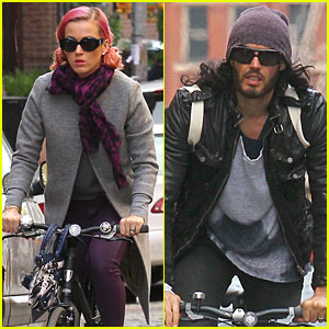 Katy Perry &#038; Russell Brand: Occupy Wall Street Spectators!