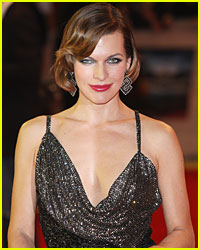 Milla Jovovich Visits Wounded Movie Extra in Toronto