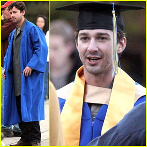 Shia LaBeouf: Graduation Robes for 'Company You Keep'