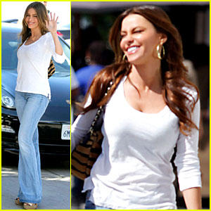 Sofia Vergara Laughs with Nick Loeb